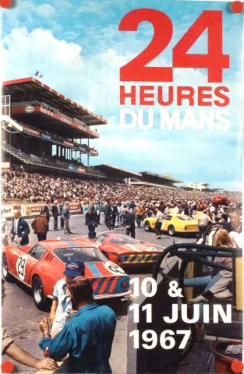 24 heures du mans 10 11 juin 1967 affiche illustr e d for Catalogue ets leger le mans