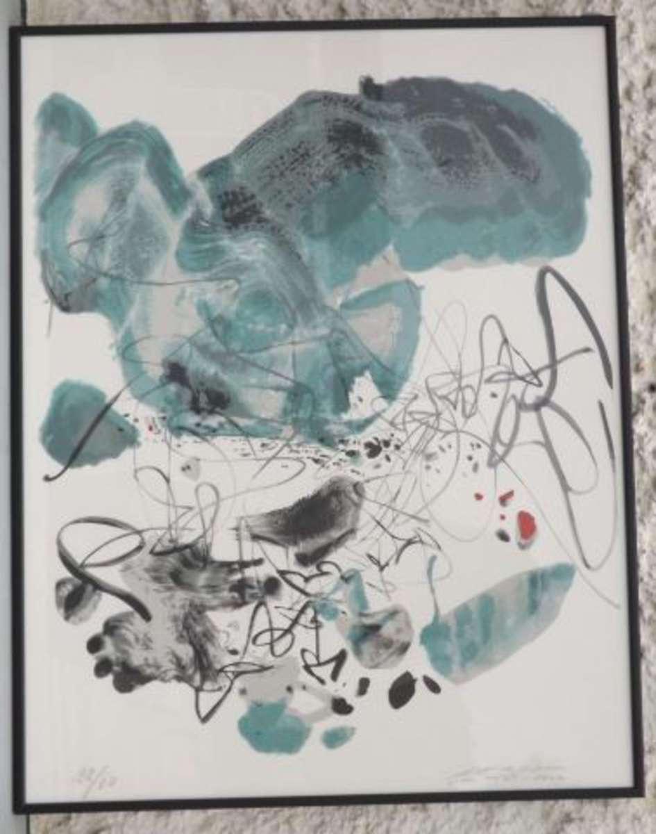 24a344d1f82 Chu Teh-Chun 1920-2014 Abstraction Lithographie en couleurs