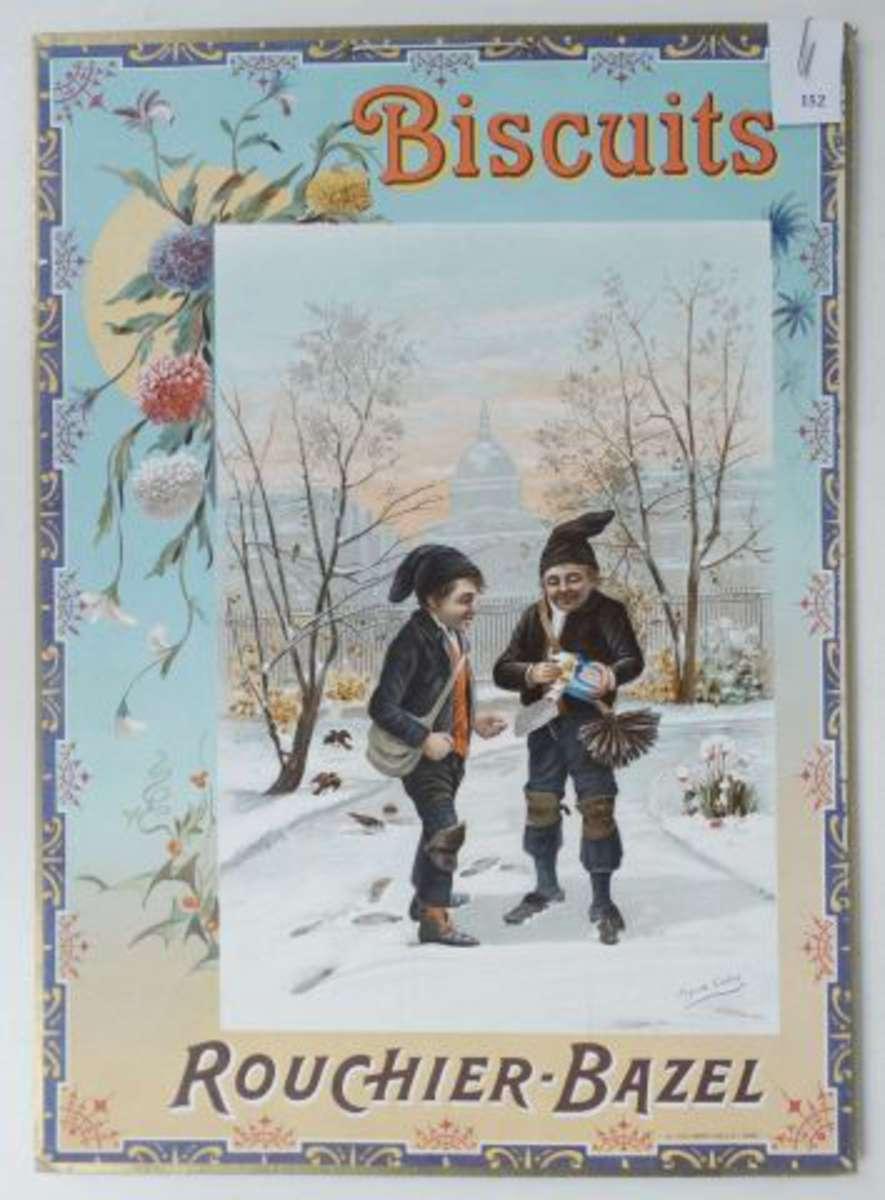 biscuits rouchier bazel angoul me panonceau lithographi illustr de 2 petits ramoneurs dans. Black Bedroom Furniture Sets. Home Design Ideas