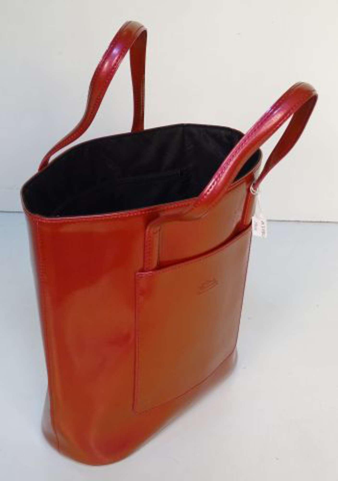 lampone T6tuw6 vernice effetto effetto Longchamp Cabas con fatto pelle mano in Borsa in a wg0qZOZ