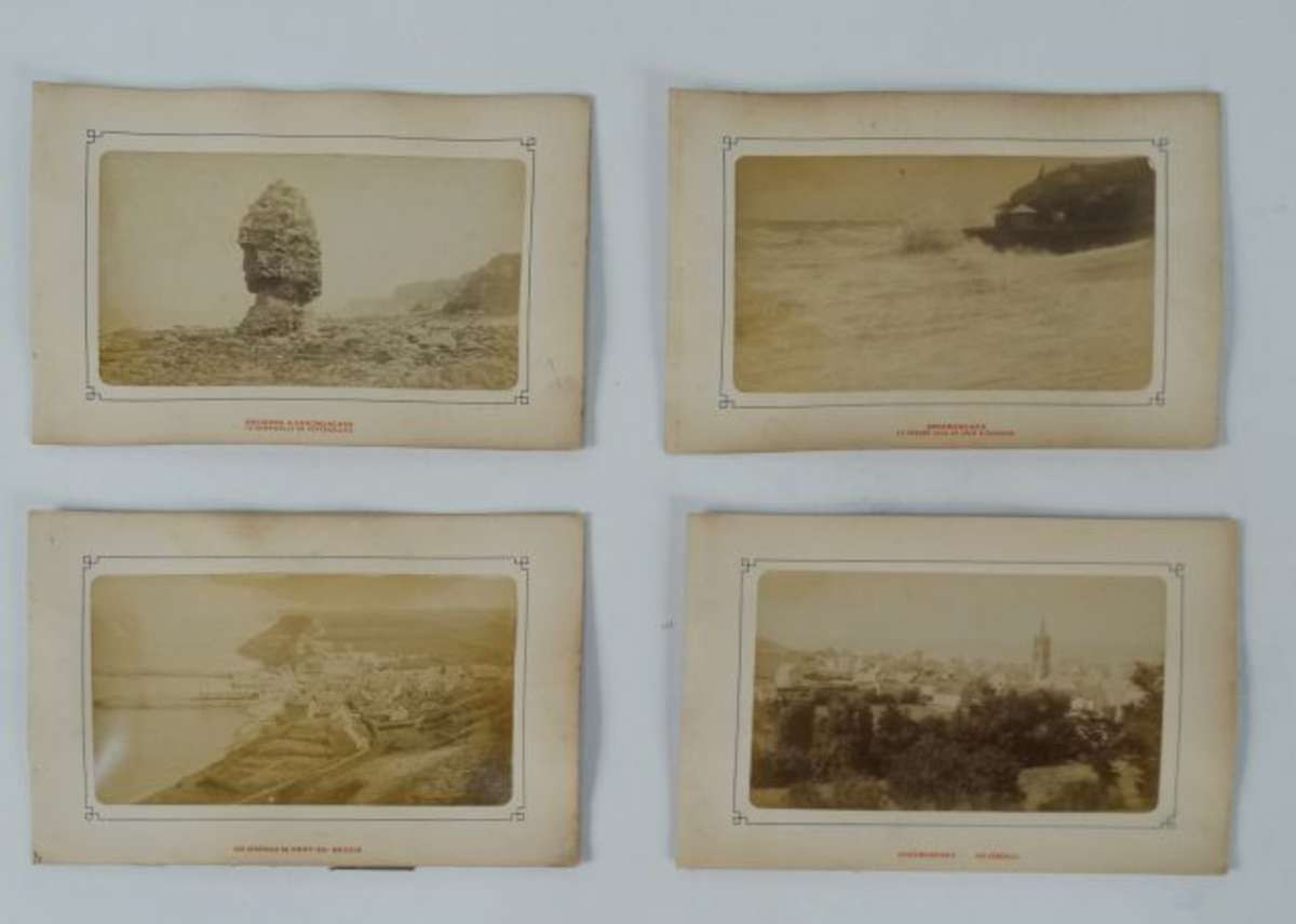 arromanches port en bessin calvados 14 4 photos anciennes albumine d but 1900 vente. Black Bedroom Furniture Sets. Home Design Ideas