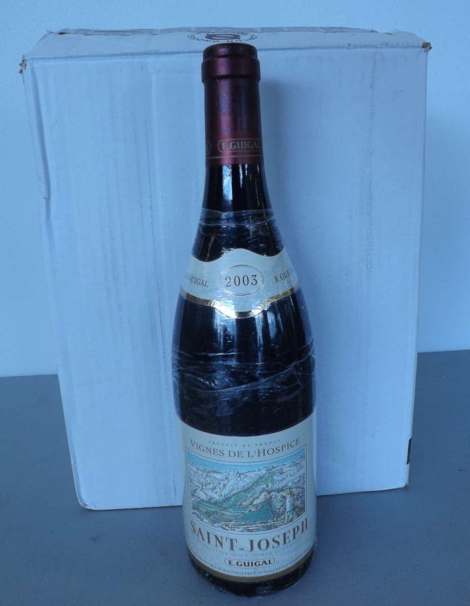 5 btles saint joseph vignes de l 39 hospices 2003 domaine etienne guigal vente aux ench res vins. Black Bedroom Furniture Sets. Home Design Ideas