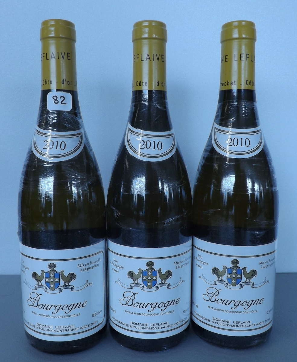 3 btles bourgogne blanc 2010 domaine anne leflaive vente aux ench res vins spiritueux. Black Bedroom Furniture Sets. Home Design Ideas