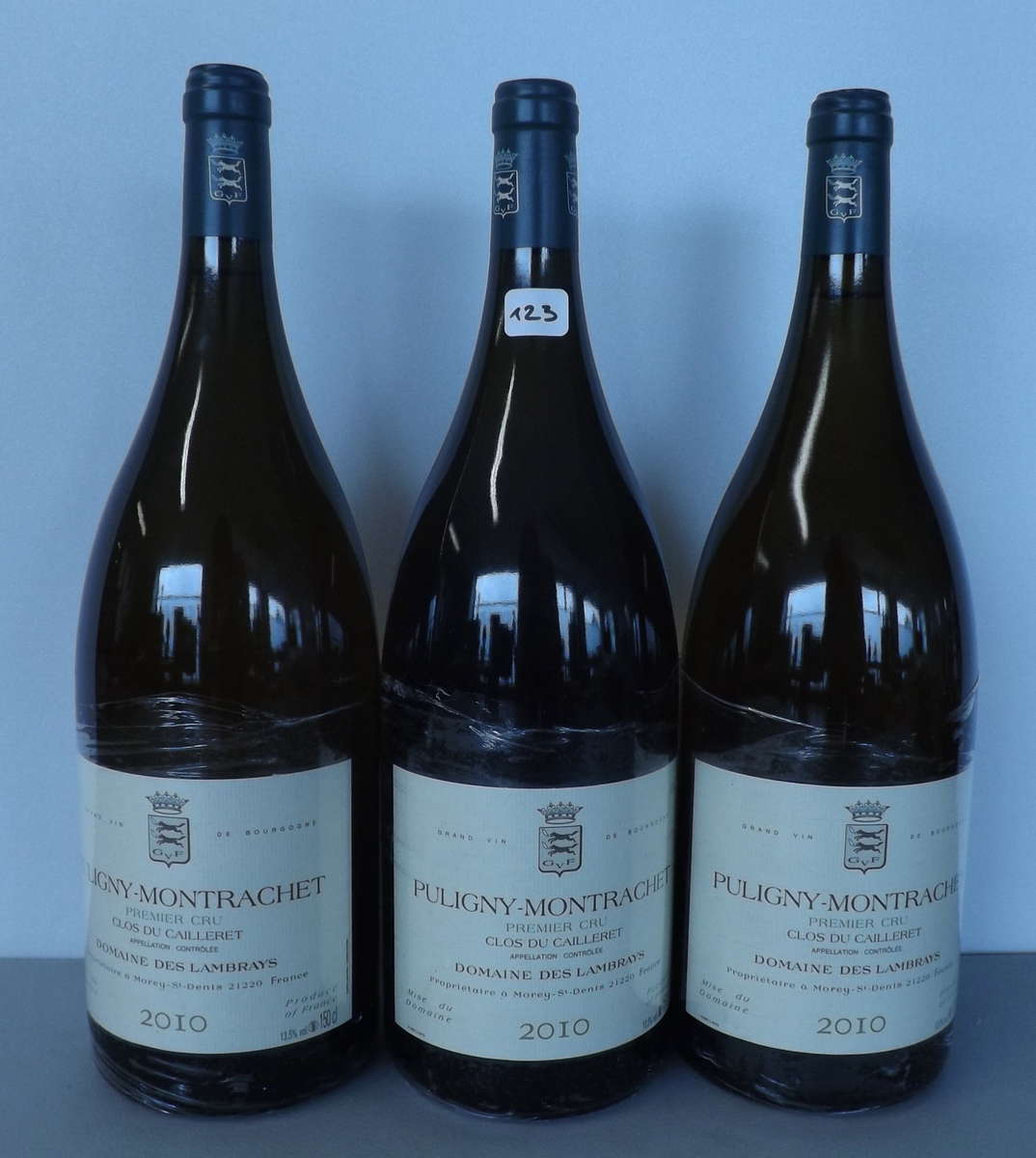 3 magnums puligny montrachet 1er cru les folati res 2010 domaine des lambrays vente aux. Black Bedroom Furniture Sets. Home Design Ideas