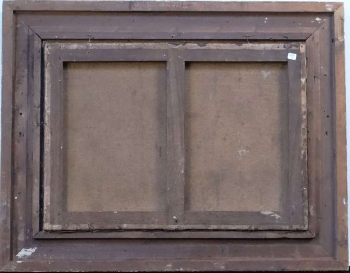 ecole orientaliste enceinte de ville bord de rivi re huile sur toile 50x70 cm restaurations. Black Bedroom Furniture Sets. Home Design Ideas