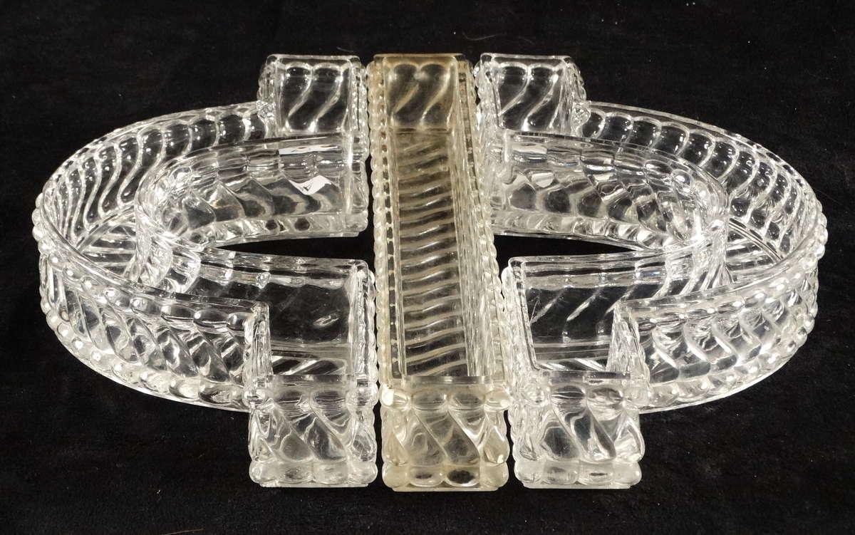 Partie de centre de table compos de 3 pi ces en cristal for Centre de table bambou
