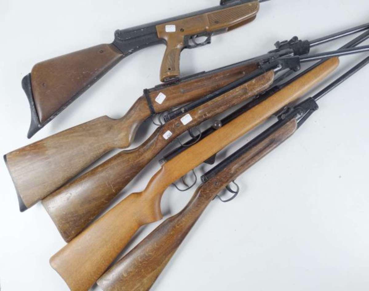 Lot de 5 carabines a plomb dans l 39 tat vente aux ench res militaria - Encheres immobilieres de l etat ...