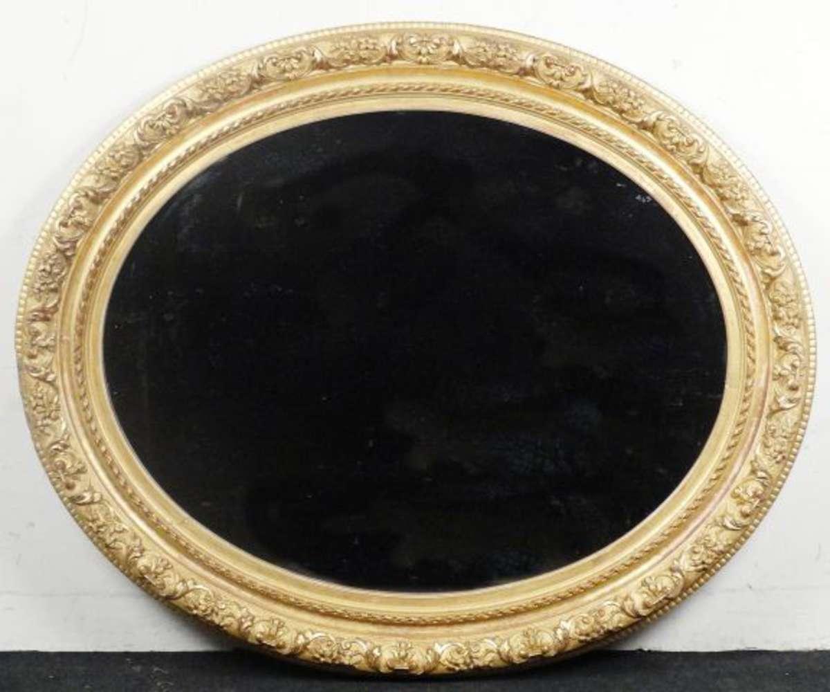 important miroir ovale en bois dor et sculpt de rinceaux fleurs et rubans xixe 150 x 122 cm. Black Bedroom Furniture Sets. Home Design Ideas