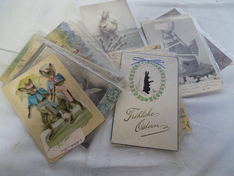 Cartes Postales - Lapins - Environ 20 CP, Vente aux enchères : Timbres - Philatélie