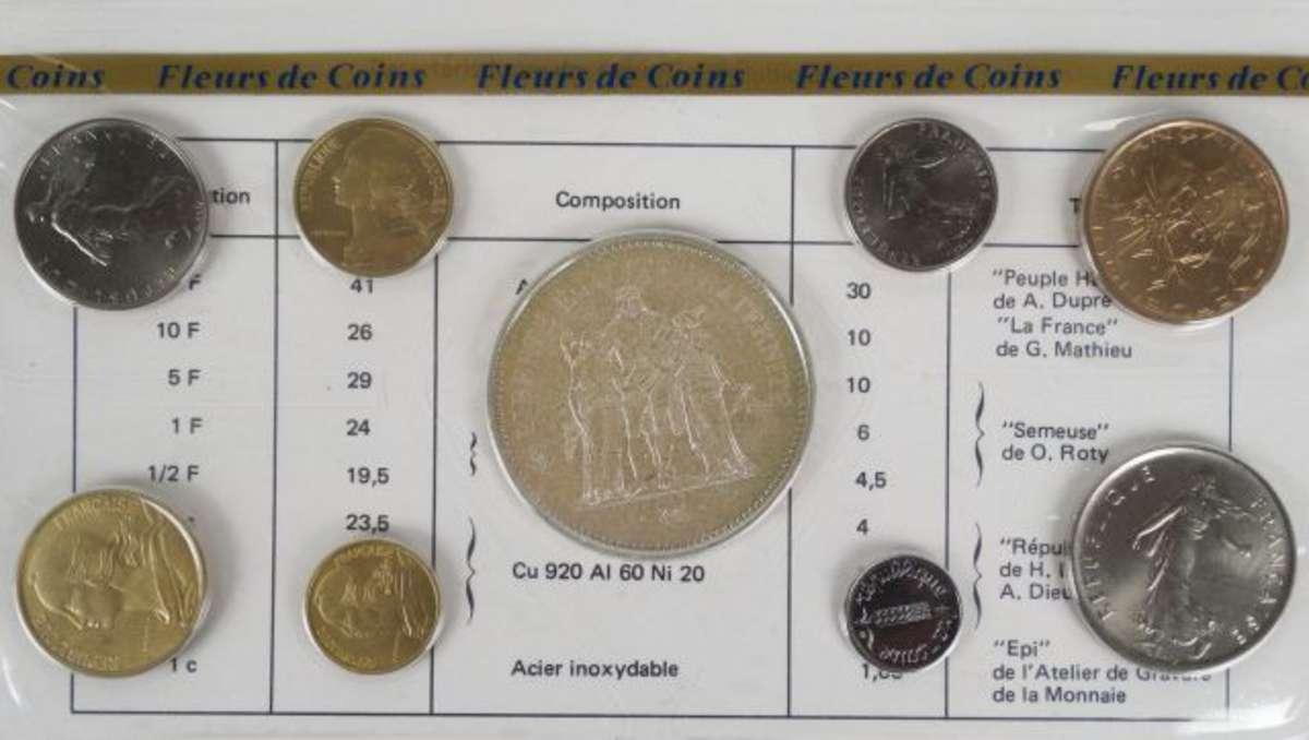 Monnaie De Paris Series Fleurs De Coin 1975 1976 Completes De 1