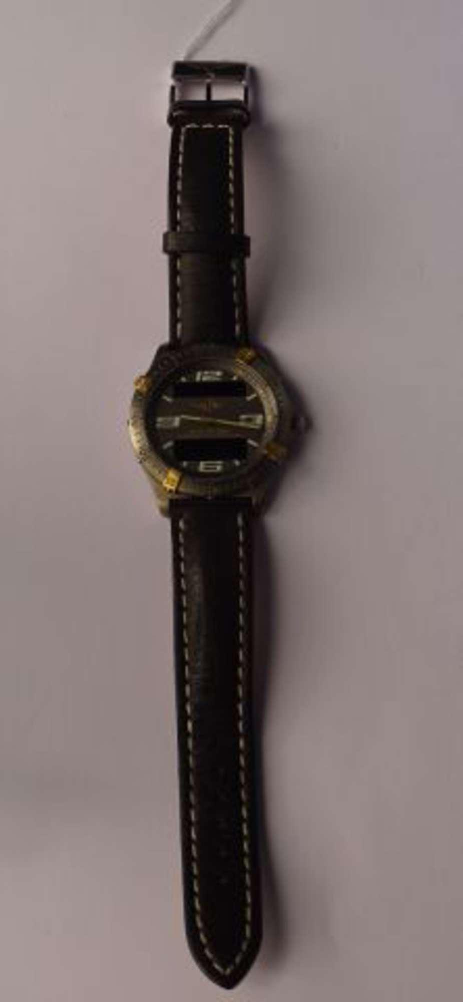 breitling chronom tre a rospace ann es 90 montre bracelet boitier titane cadran gris sign. Black Bedroom Furniture Sets. Home Design Ideas
