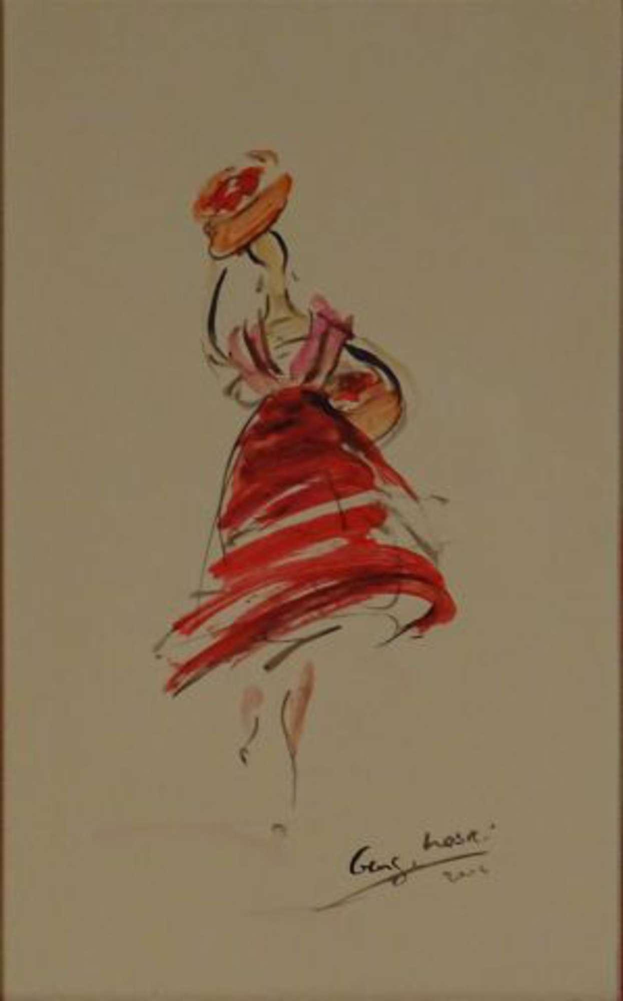 Nasri Georges 1948 Danseuse Espagnole Aquarelle Signee En Bas A Droite Datee 2004 52 X 32 Vente Aux Encheres Tableaux Modernes Et Contemporains De 1870 A Nos Jours