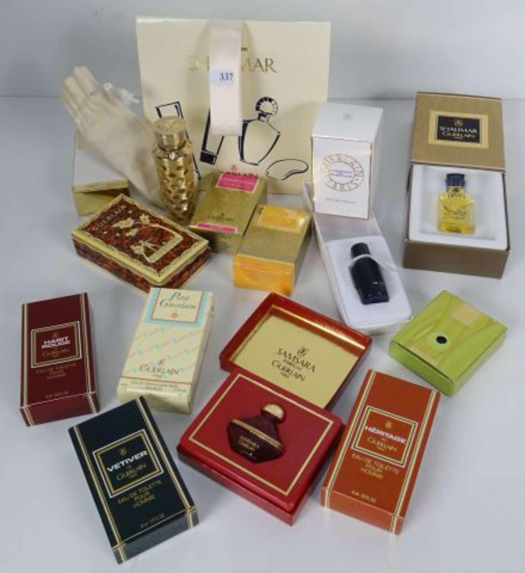 De Miniatures Parfum Guerlain Lot 14 Et Un Vaporisateur Sac FTK1Jc3l