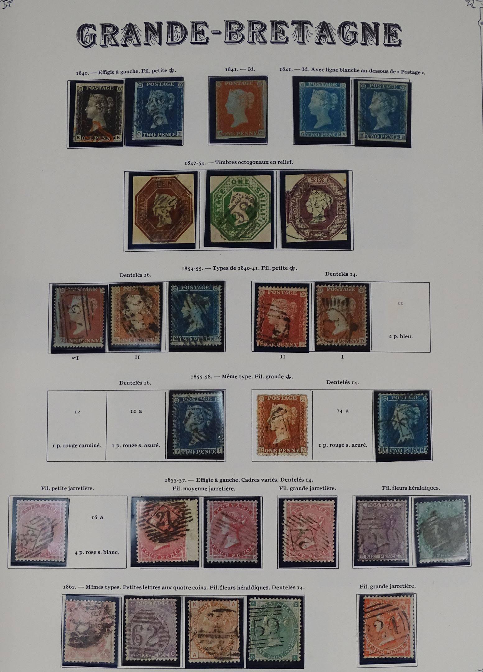 Grande Bretagne + Iles Anglo Normandes. Dans 1 album. Belle collection de...