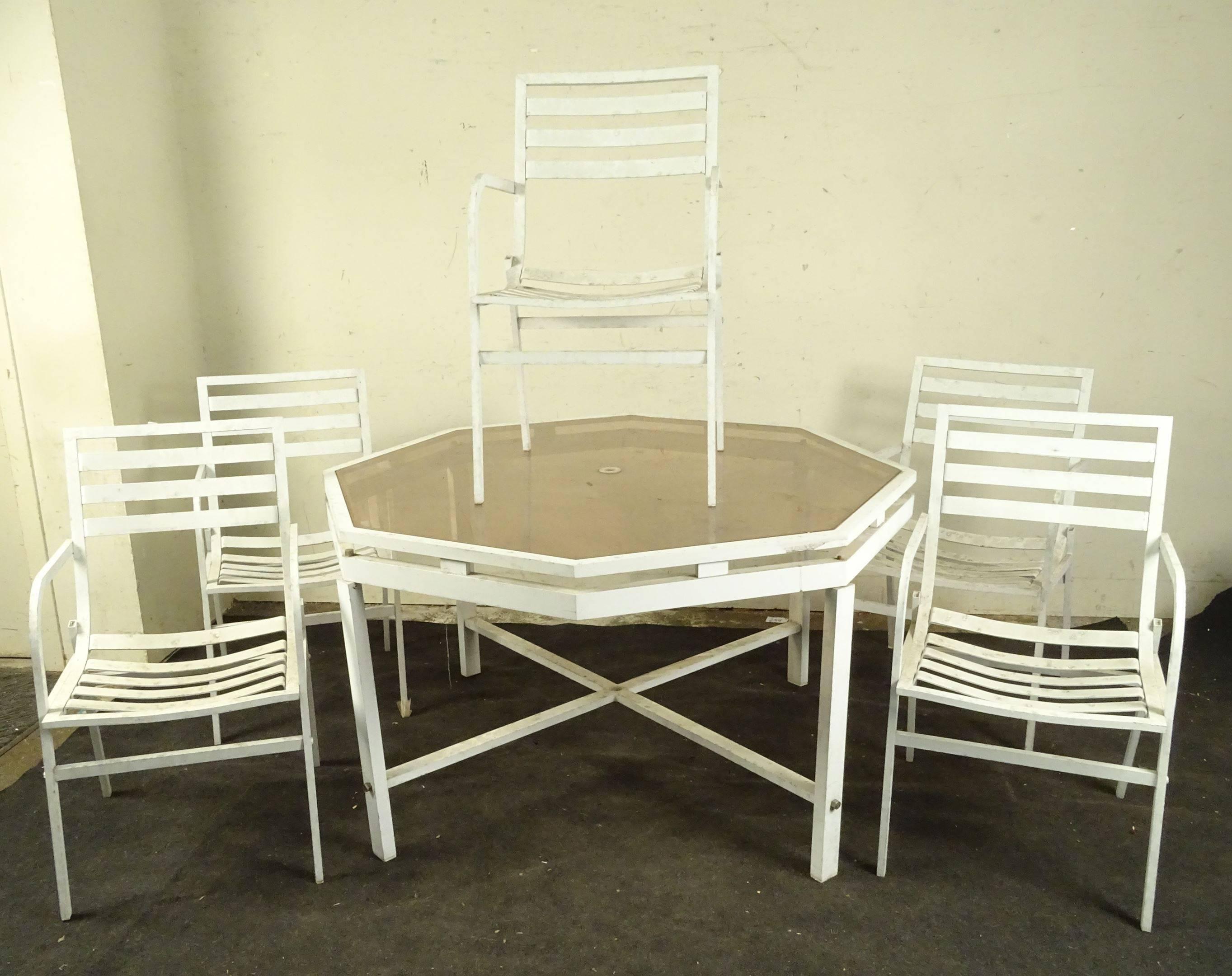 HUGONET - Mobilier de jardin en aluminium laqué blanc ...