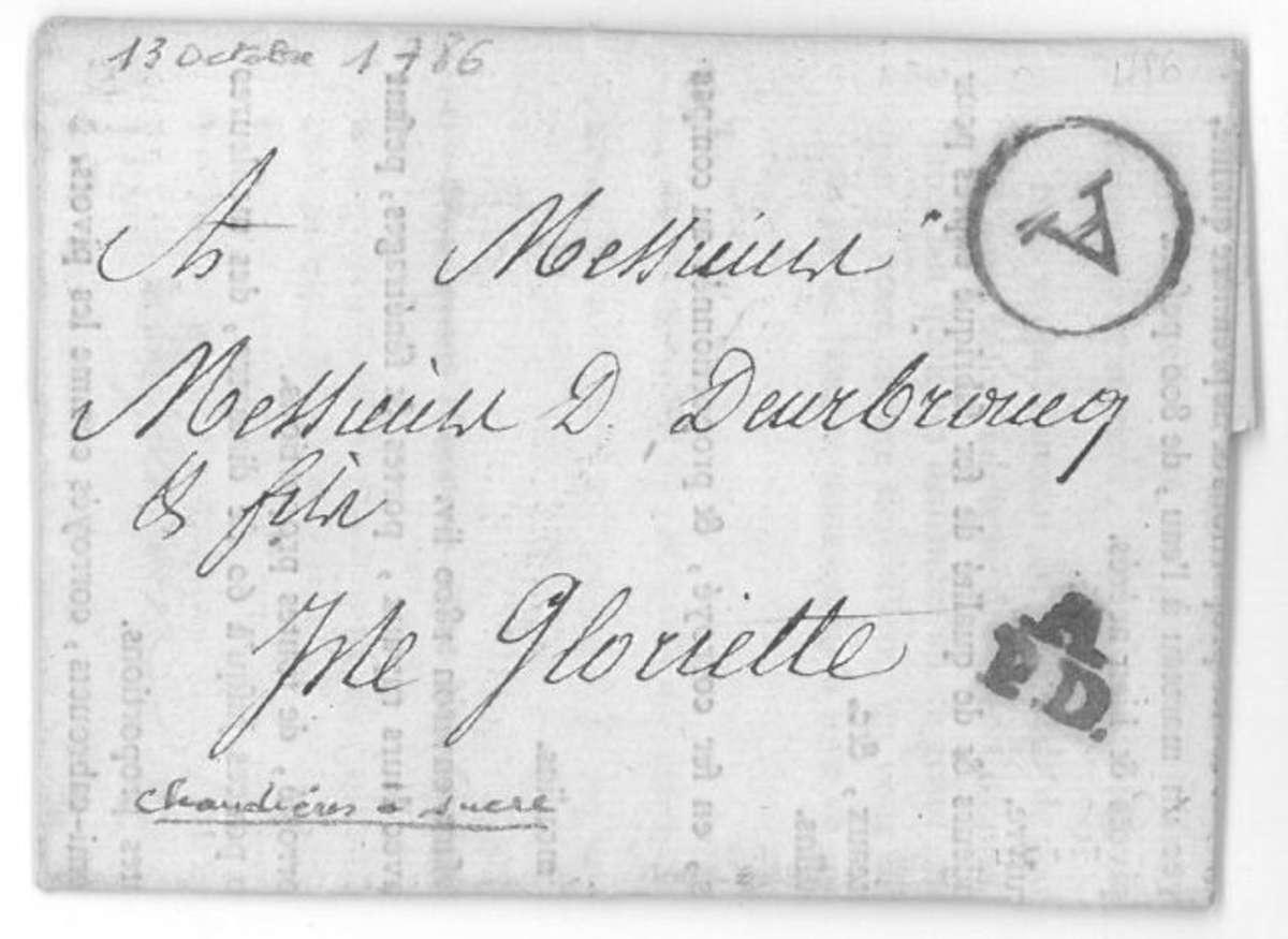 marcophilie de la loire inferieure petite poste de nantes pour nantes le 13 octobre 1786. Black Bedroom Furniture Sets. Home Design Ideas