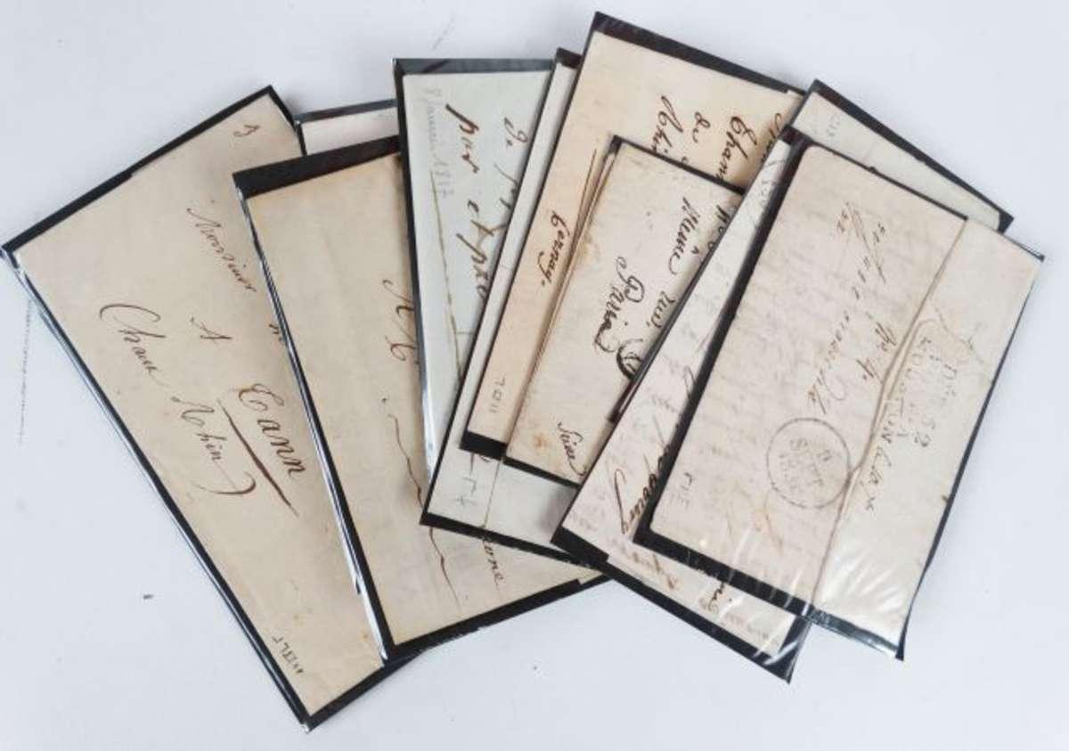 meurthe et moselle pont mousson lot de 12 lac lsc de 1813 1854 avec marques postales. Black Bedroom Furniture Sets. Home Design Ideas