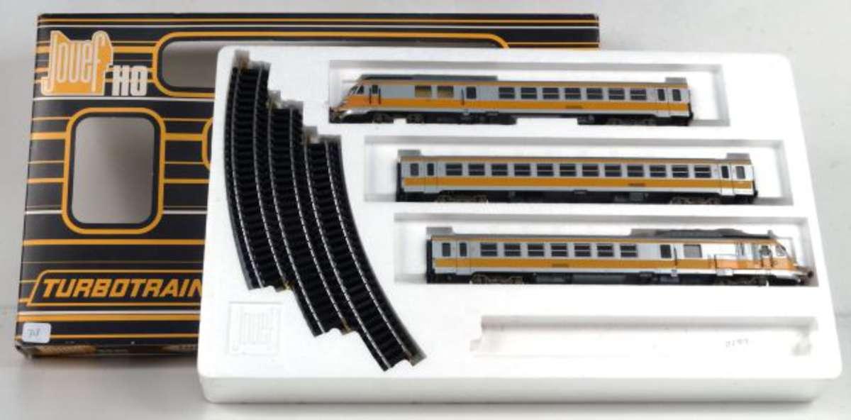 jouef coffret turbotrain r f 7662 vente aux ench res jouets trains poup es automates. Black Bedroom Furniture Sets. Home Design Ideas