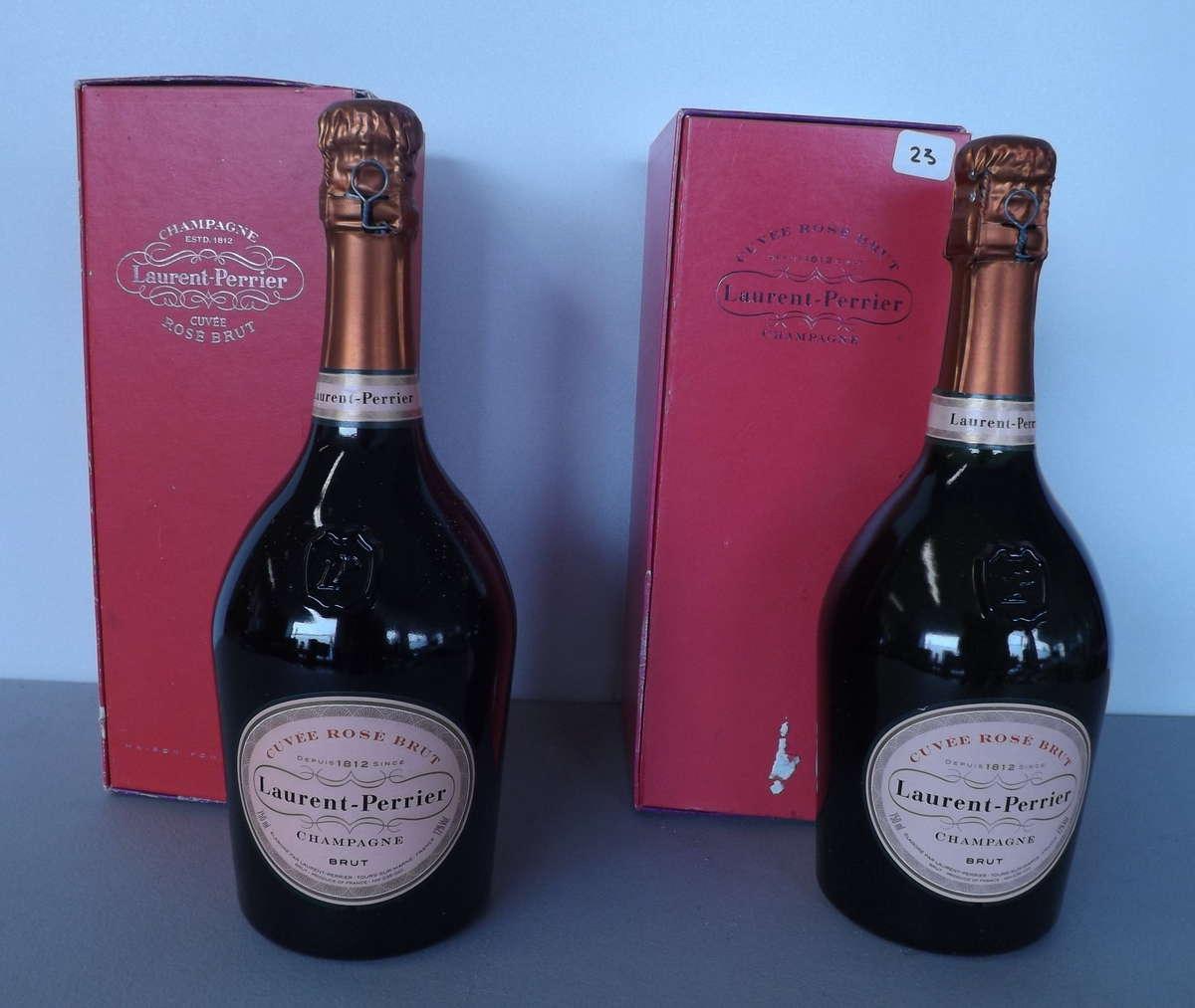 2 btles champagne laurent perrier ros non mill sim vente aux ench res vins spiritueux. Black Bedroom Furniture Sets. Home Design Ideas