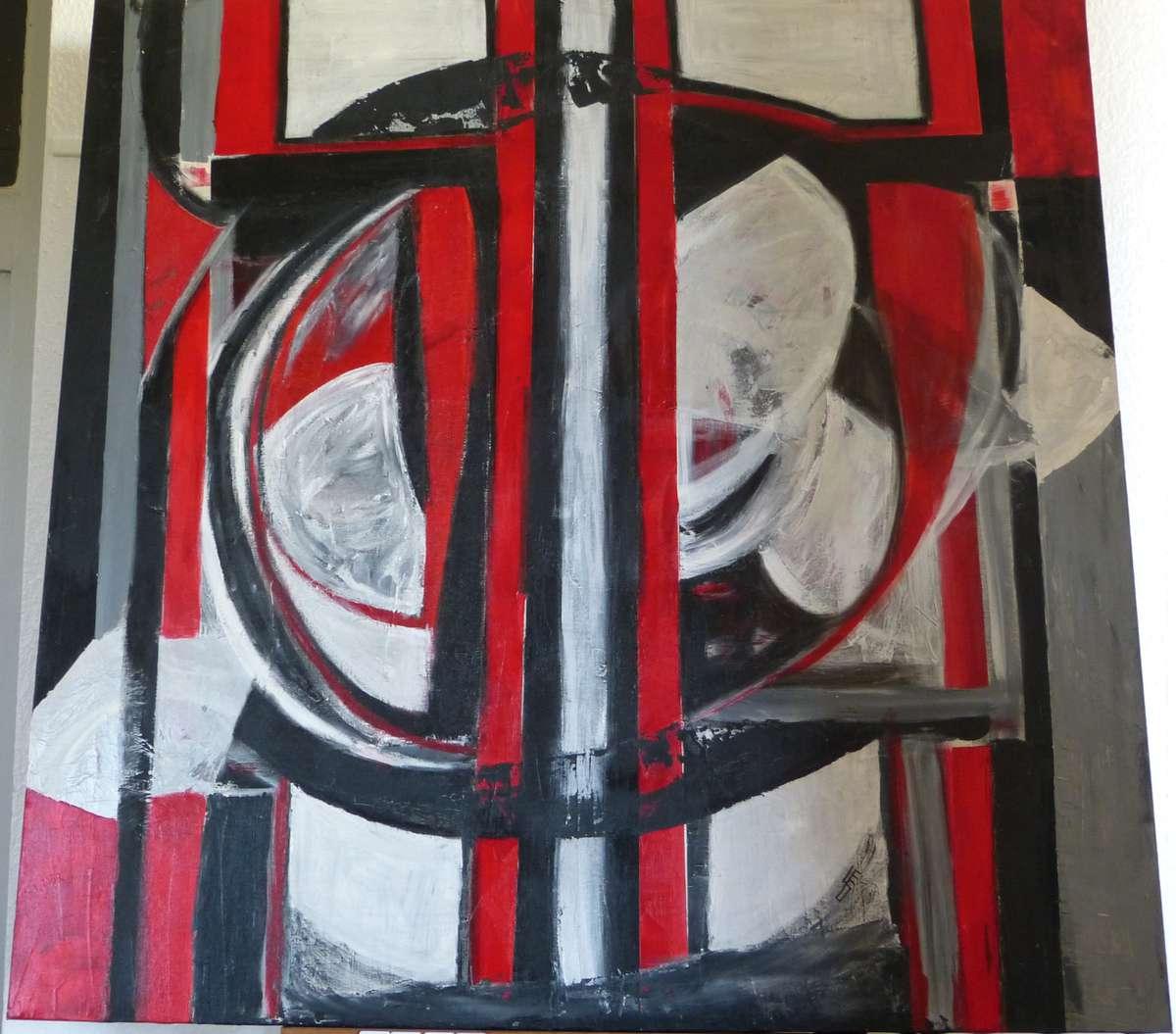 dimartino florence ar nes acrylique au couteau 100x100 cm vente aux ench res tableaux. Black Bedroom Furniture Sets. Home Design Ideas