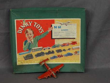 Dinky toys France - Coffret vide d'avion ref 61 -