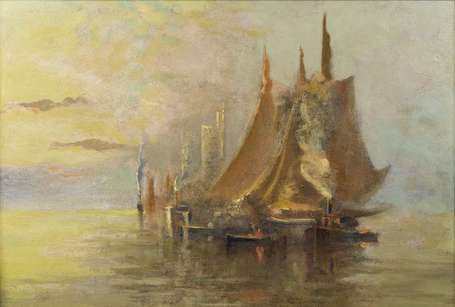 HAMMOND John (1843-1939) - Fishing Boat in the Bay