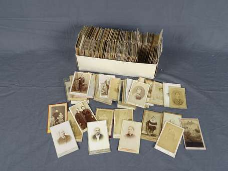 Photo - 1 Boite de plus de 200 Photos CDV cabinet