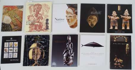 Treize catalogues de ventes d'Art Tribal France