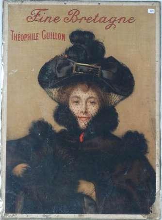 theophile guillon nantes fine bretagne panonceau lithographi illustr d 39 une l gante imp. Black Bedroom Furniture Sets. Home Design Ideas