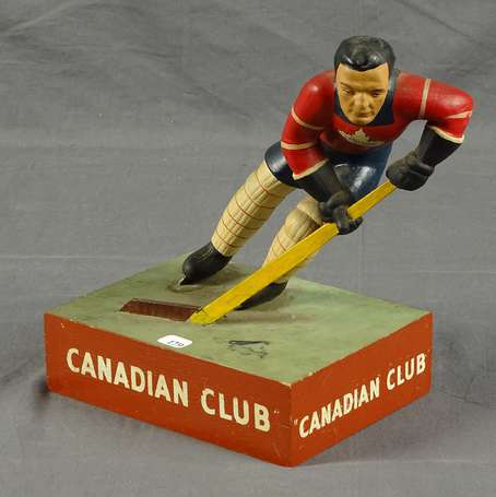CANADIAN CLUB Whisky : Figurine en latex