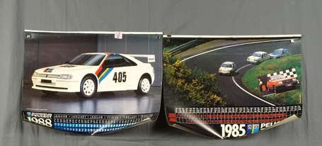 PEUGEOT TALBOT 1985 et 1986 : 2 Calendriers