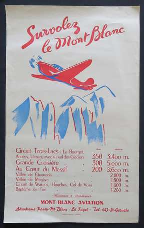 Affiche - MONT-BLANC AVIATION - Survolez les