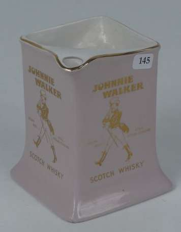 JOHNNY WALKER : Pichet en faïence, illustré du