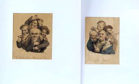 Boilly Louis Caricatures Quatre lithographies