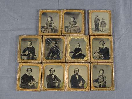 Photo - 11 Ambrotypes Photos américains sur la