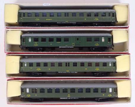 France Train en boite- Lot de 4 voitures PLM, ref