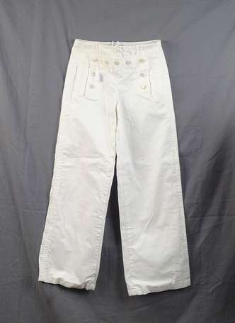 LOUIS VUITTON - Pantalon large en coton et