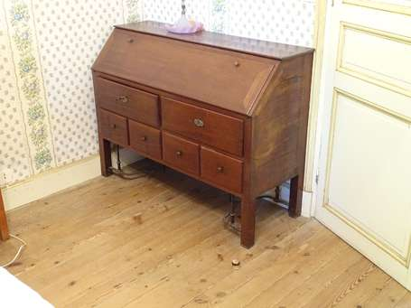 Commode scribanne en acajou