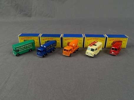 Matchbox - Lot de 5 vehicules - ref 10/62/26/46/69