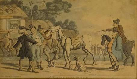 ROWLANDSON Thomas (1756-1827) - Dr Syntax sells