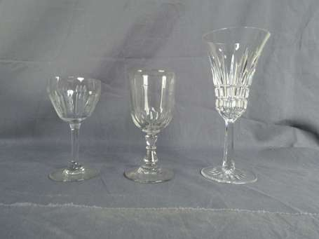 Lot de verres LOT NON EXPEDIABLE